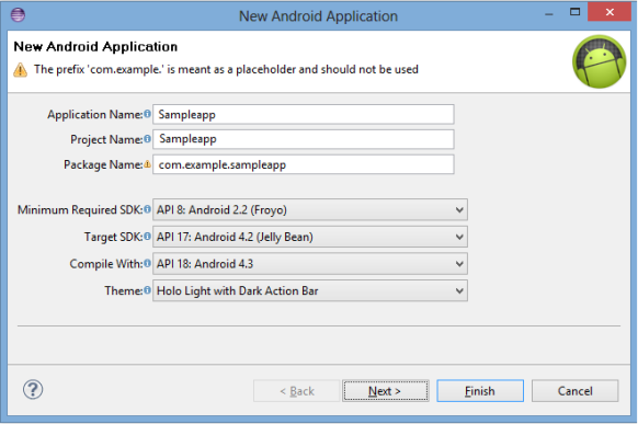 Using Android SDKs to develop apps in Kony MobileFabric