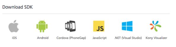 Using JavaScript SDKs to develop apps in Kony MobileFabric, Kony Doc