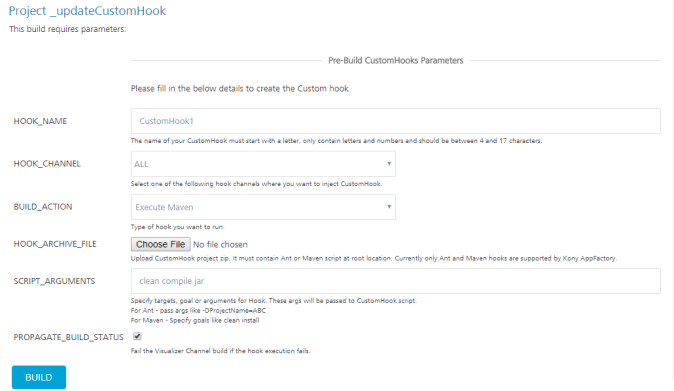 Running CustomHooks in AppFactory