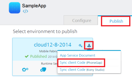 Invoking a Sync Service
