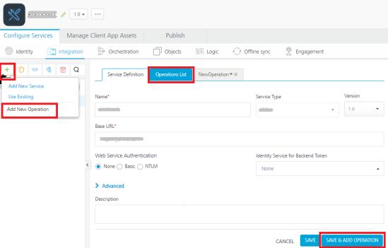 API Proxy integration Service - Kony Fabric User Guide