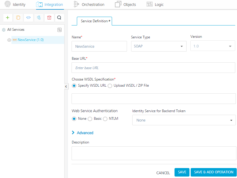 Using Integration to add services in the Kony Fabric, Kony Doc  XML