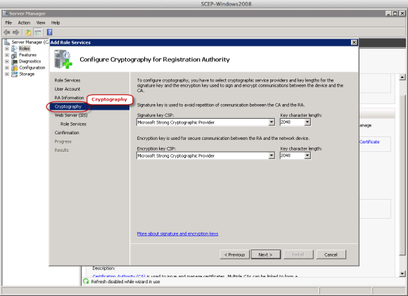 SCEP Server Setup on Windows Server 2008