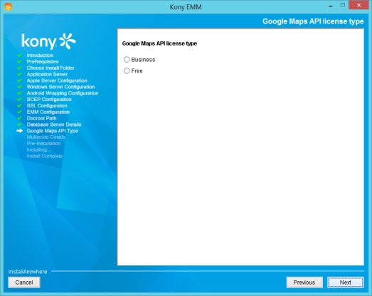 Installing Kony EMM for Windows