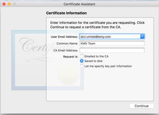Generating an Apple Push Notification Service (APNS) Certificate