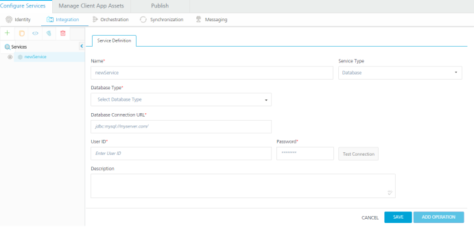 Create a Database Service