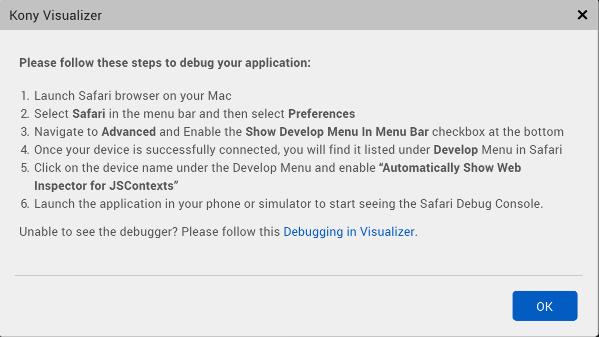 Debugging an Application